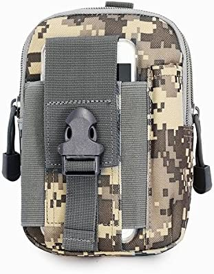 Seguridad y conveniente multifunción táctica Smartphone EDC Utilidad Gadget Enganche de cinturón bolsa de la cintura para escalada senderismo pesca ...