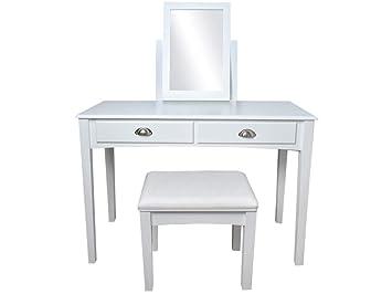 Malatec toilette con specchio e sedile shabby chic sgabello di