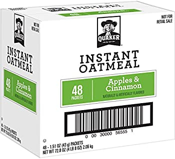 48-Pack Quaker Instant Oatmeal Apples and Cinnamon 1.51 oz