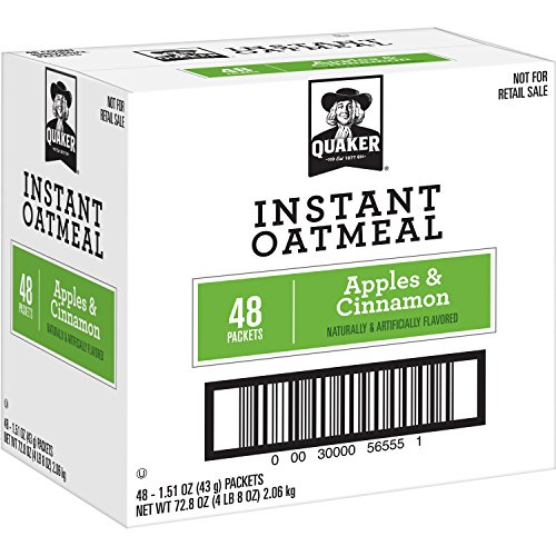 Oatmeal Apple (Quaker Instant Oatmeal, Apples and Cinnamon, 48 Count, 1.51 oz Packets)