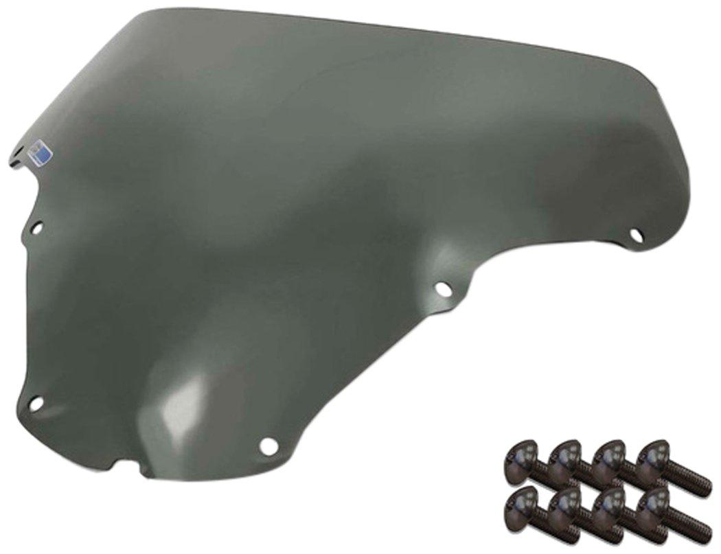 Sportbike Windscreens ADHW-103S Smoke Windscreen (Honda Cbr 929 (01-02) with Silver Screw Kit), 2 Pack