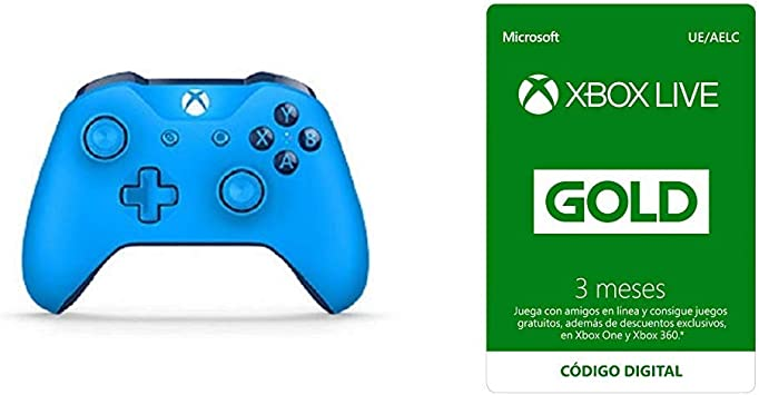 Microsoft - Mando Inalámbrico, Color Azul (Xbox One), Bluetooth + ...