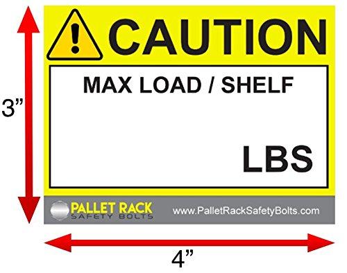 Warehouse Rack Labels, Pallet Racks Capacity Labels for Warehouse Safety by Pallet Rack Safety Bolts (Image #6)