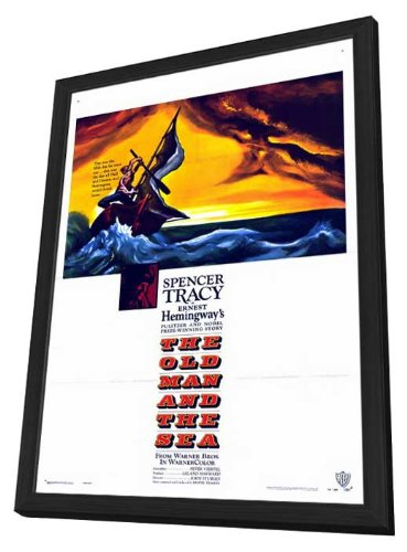 The Old Man and The Sea 27 x 40 Movie Poster - Style A - in Deluxe Wood Frame (The Old Man And The Sea Style)