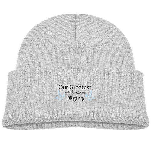 Banana King Our Greatest Adventure Begins Baby Beanie Hat Toddler Winter Warm Knit Woolen Watch Cap for Kids Gray ()