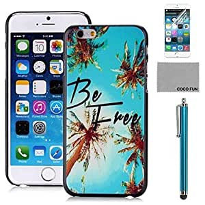 YULIN Blue Sky Tree Pattern PC Hard Back Case Cover with Screen Protecter, Stand and Stylus for iPhone 6 6G 5.5