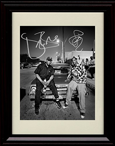 (Framed Dr. Dre and Snoop Dog Autograph Replica Print)