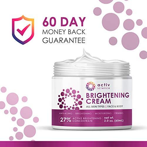 513Qy%2B9fAgL - ACTIVSCIENCE Whitening Cream - Powerful Skin Lightening Cream for Face & Body. Dark Spot, Melasma & Hyperpigmentation Treatment. 2 fl oz.