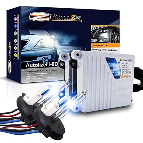 Autolizer 55W Xenon HID Lights [H4 HB2 9003-10000K Deep Blue] (Hi Lo) Halogen