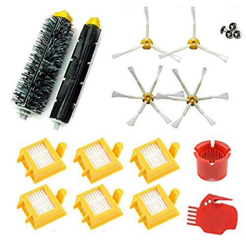 Iusun Clean Brush Replacement Parts Kits For Roomba Series 700 760 765 770 772 775 776 776 P 780 782 785 786 Spare Vacuum Cleaner Sweeper Accessories Set (A) (Carpet Roller Brush)