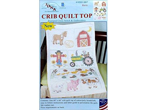 - Jack Dempsey JDN4060.887 Crib Quilt Top Barn