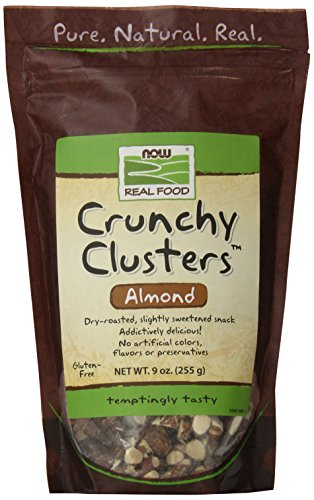 NOW Crunchy Clusters Almond,9-Ounce