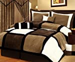 Chezmoi Collection Micro Suede Patchwork 7-Piece Comforter Set from Amazon.com, LLC *** KEEP PORules ACTIVE ***