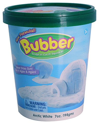 WABA Fun Bubber Non-Toxic, Non-Drying Sculpting Dough, 7 Ounce Bucket, White