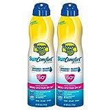 Banana Boat Sunscreen SunComfort Broad Spectrum Sunscreen Spray, SPF 50+, 6 Ounce – Twin Pack For Sale