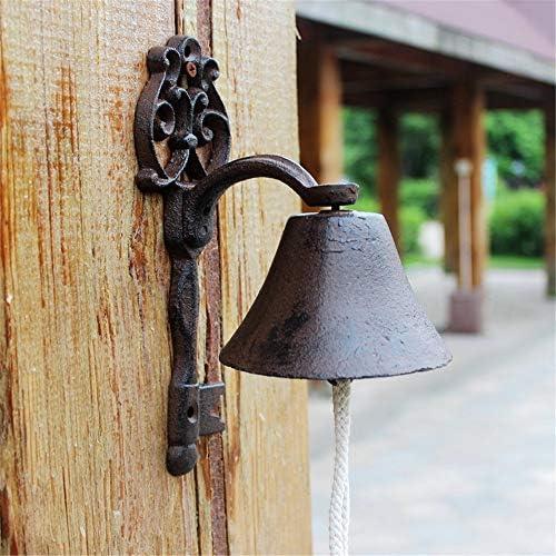 鋳鉄製のドアベル 素朴なレトロアイアンドアベル鋳鉄キー・ベルの家の壁の装飾 ガーデン&ホーム&ストア&アウトドアデコレーション (Color : Multi-colored, Size : Free size)