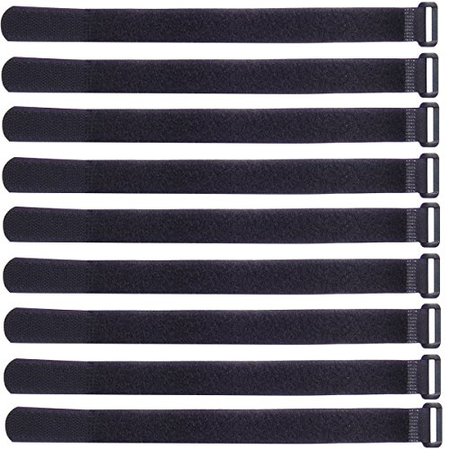 Ceeyali Reusable Hook and Loop Fastening Cable Ties Cable Straps for Home Office Tablet PC TV Electronics Wires Organizer Management (30 Pack 12 inch)
