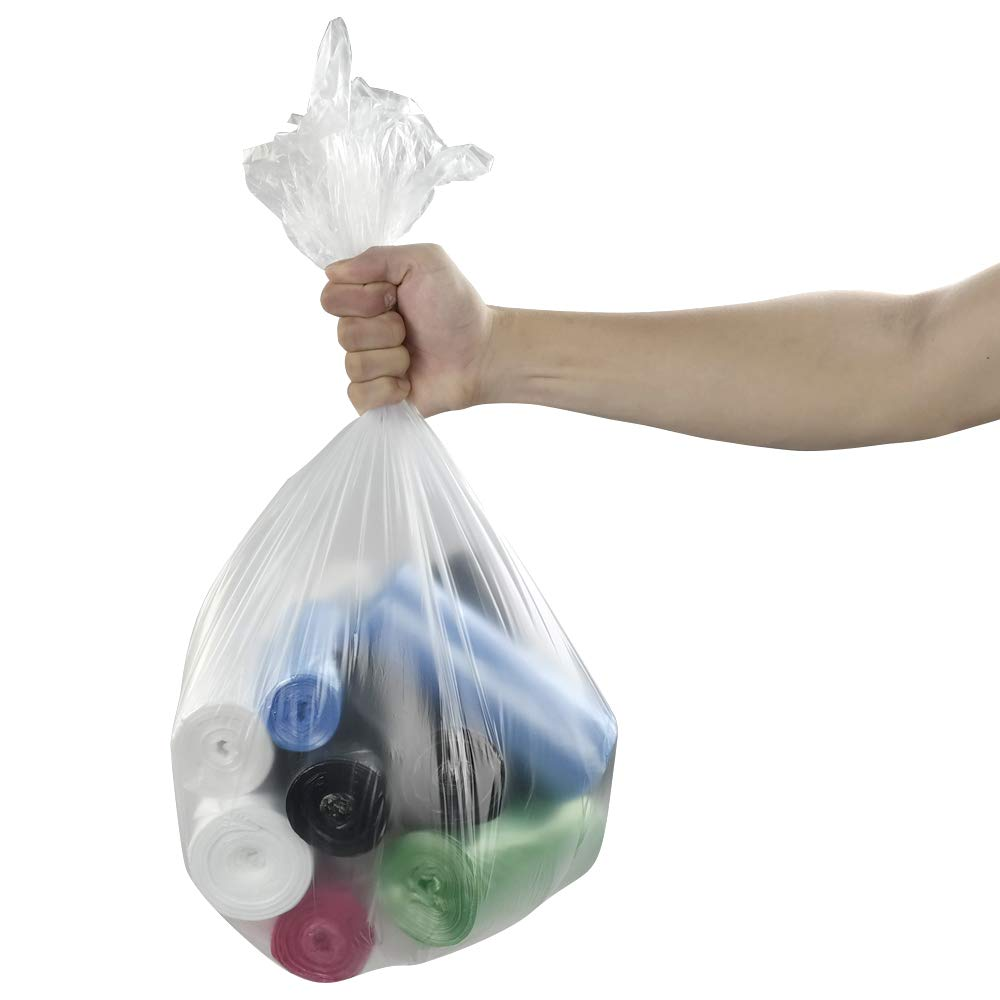 Mayish Bolsas de Basura Sacos de Basura de Colores Grandes 40 L, 135 Unidades//6 Rollos