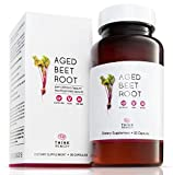 Aged Beet Root Capsules - Beet Pills for High Blood Pressure and Stamina - Organic Beet Root Powder - Nitric Oxide Supplement - Nitrate No Sugar - 30 Capsules - Beet Root Supplement - Super Beets