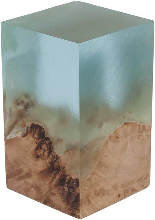 Amethyst Hybrid Bottle Stopper Blank 1-7//16 x 1-7//16 x 2-3//8 Acrylic and Wood