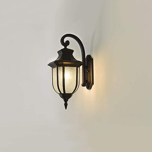 Set of 2 ALU Lanterns Wall Hanging Lights Facades Front Door Exterior Lamp Black