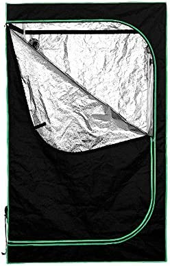 Tenwell 48 x48 x80 Mylar Hydroponic Indoor Grow Tent with Floor Tray