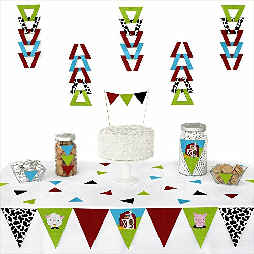 Barnyard Baby Shower (Farm Animals - Triangle Baby Shower or Birthday Party Decoration Kit - 72 Pieces)