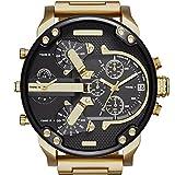 Generic Luxury Men's Date Watch Stainless steel Leather Military Analog Quartz Watche (J)