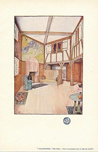 Hall interior detail of Yellowsands Baillie Scott 1903