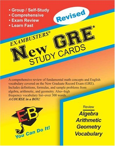 New GRE Study Cards, Revised Edition (Exambuster Series)