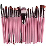 #8: Clearance Deals Makeup Brush Set,Laimeng_world 2018 Professional Fashion 20pcs Make up Brushes Kits Cosmetic tools Kit Valentine Gift (G)