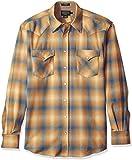 Pendleton Men's Big Long Sleeve Canyon Shirt, Tan/Blue Ombre, XL-Tall