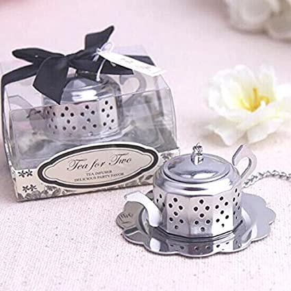 1x tea for two teapot tea infuser wedding favors and bridal shower favors