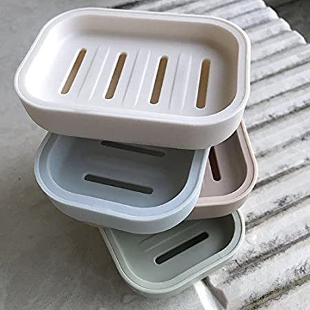 Chytaii Caja de Jab/ón Doble de Pl/ástico Titular del Jab/ón Jabonera para la Ducha Jabonera Holder Container Jabonera de Ba/ño Soporte de Jab/ón Estilo Simple