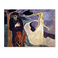 Separation by Edvard Munch, 35x47-Inch Canvas Wall Art