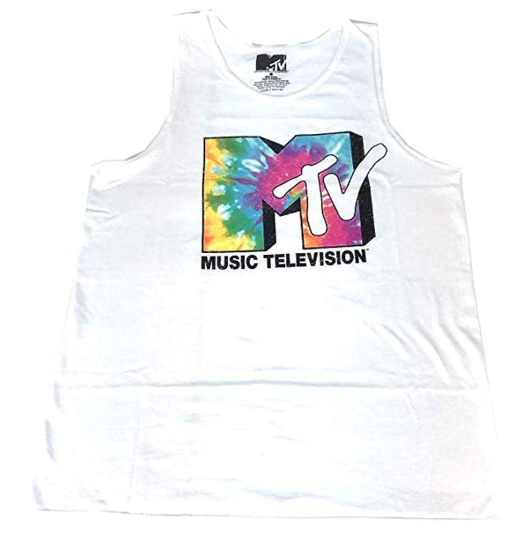 f83073a5440ab2 Amazon.com  MTV Tie Dye Logo Music Television Retro Vintage 80s Tank Top  Shirt Mens White  Clothing