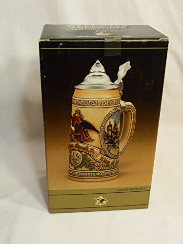 Anheuser-Busch Tomorrow's Treasures Beer Stein 1988 Limited Edition V ()