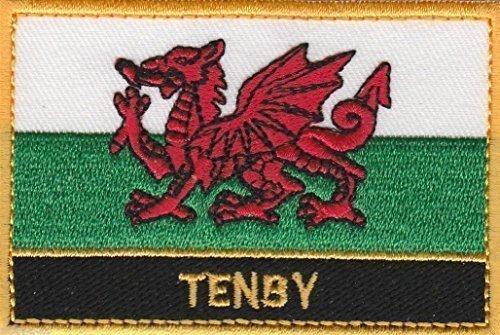 Tenby Wales Cymru Stadt & Stadt Bestickt Patch Abzeichen annähen