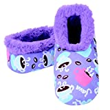 Snoozies Womens 2G Furry Nice Cozy Sherpa Non Skid Slipper Socks - Java Joe, Medium