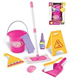 Liberty Imports Little Helper Pretend Play Kids Toy Cleaning Supplies Set w/ Mop, Bucket, and Accessories