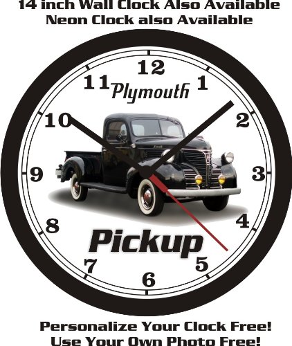 1941 Pickup - 1941 PLYMOUTH PICKUP TRUCK WALL CLOCK-FREE USA SHIP!