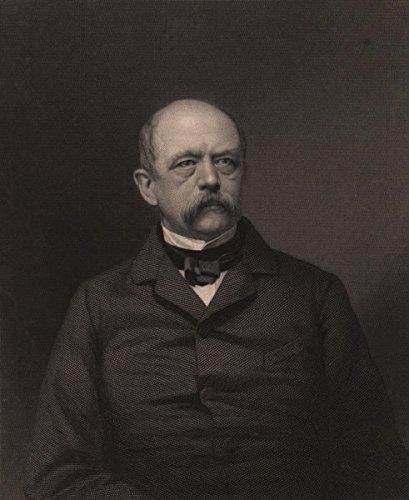 Franco-Prussian War. Otto von Bismarck. Germany - 1875 - old print - antique -