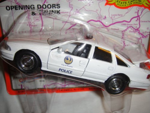 ROAD CHAMPS 1:43 SCALE CITY OF PHENIX STATE CAPITAL POLICE CAR SERIES CHEVROLET CAPRICE DIE-CAST (Caprice Police Car)