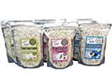 Nature Nate's Popped Sorghum Vegan Multi Pack 5 oz (6 pack)- A Snack Healthier Than Popcorn: Gluten Free, Non GMO, Low In Lectin, Popped In Oil
