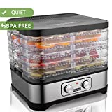 Food Dehydrator Machine, Jerky Dehydrators with Five Tray, LCD Display Screen/Button (Button)
