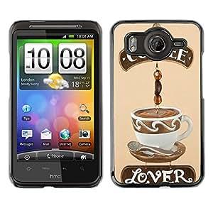 Dragon Case - FOR HTC G10 - Coffee like lover - Caja protectora de pl??stico duro de la cubierta Dise?¡Ào Slim Fit