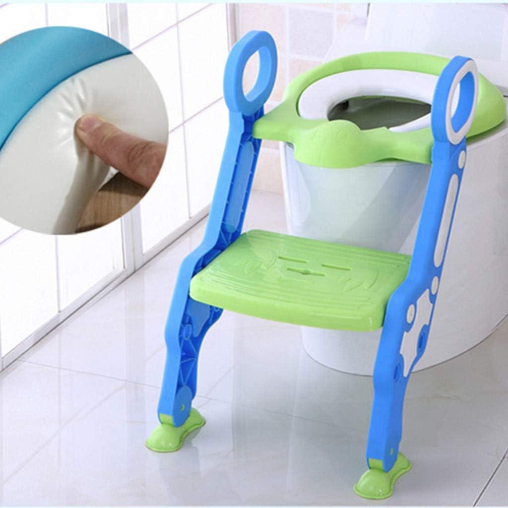 Reducteur de Toilette pour B/éb/és Anti-d/érapant Robuste Pliable et r/églable R/éducteur de WC pour Enfants 1-7 Ans Yncc Si/ège de Toilette avec /échelle Marches