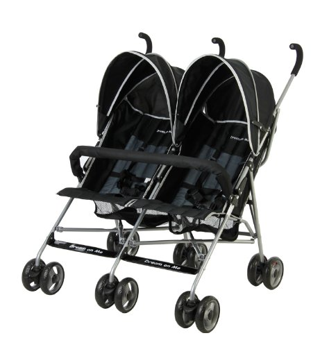 Dream Me Double Stroller Black product image