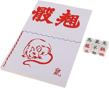 IPOTCH Paquete De 6 Juegos De Mesa De Acrílico Dados del Zodiaco Doce Signos del Zodiaco para El Juego del Zodiaco: Amazon.es: Juguetes y juegos