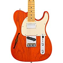 G&L Tribute ASAT Classic Bluesboy Semi-Hollow Electric Guitar Clear Orange Maple Fretboard